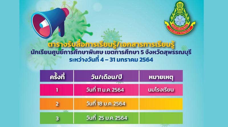 ประกาศ ศูนย์การศึกษาพิเศษ เขตการศึกษา 5 จังหวัดสุพรรณบุรี